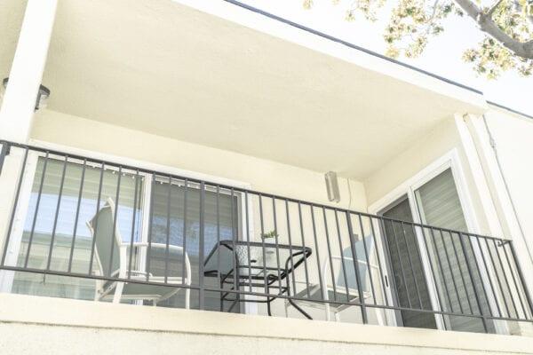 LA Intern Student Housing Balcony