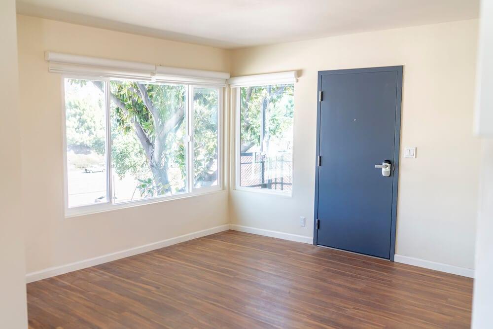 LA Intern Student Housing Living Room