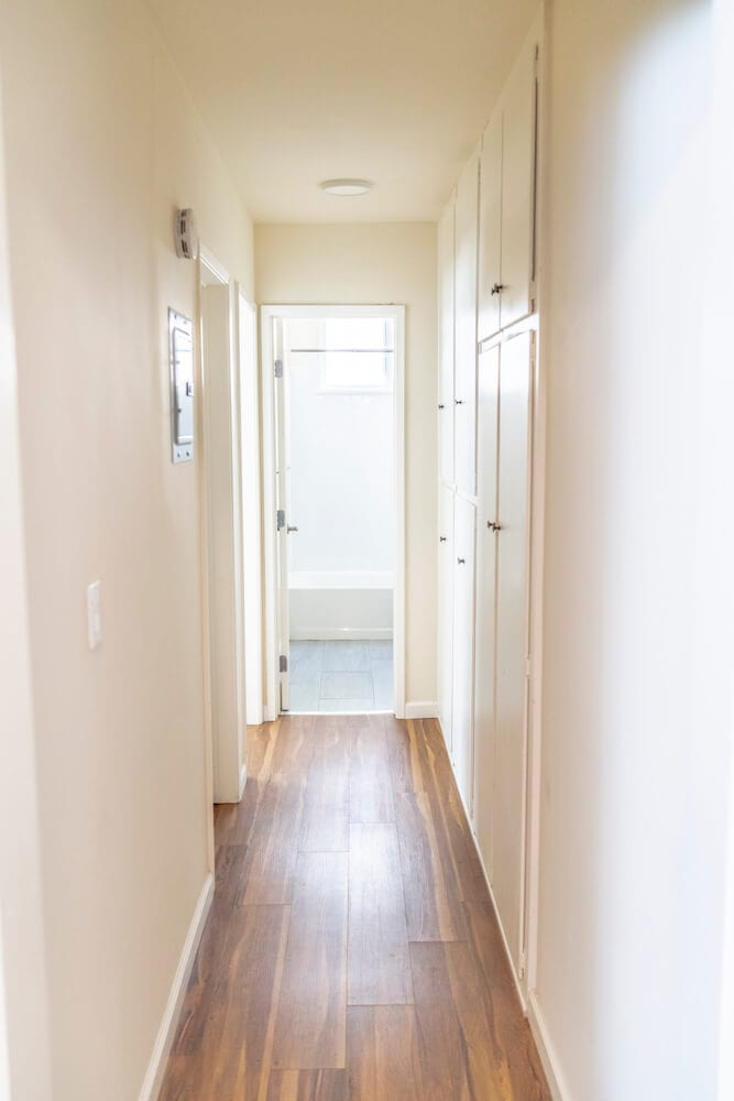 intern housing in LA Hallway