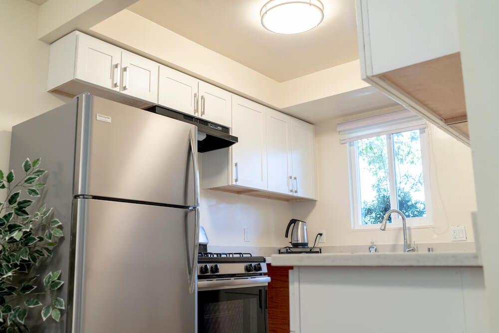 LA Intern Student Housing Kitchen Side