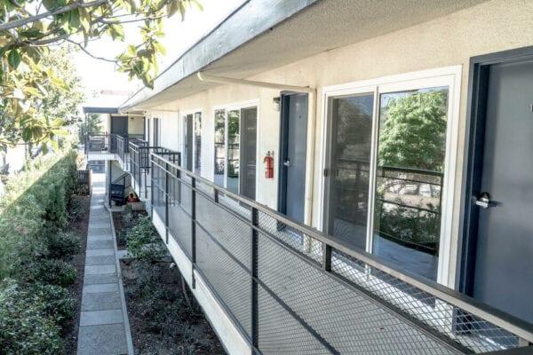 LA Intern Student Housing Walkway 2