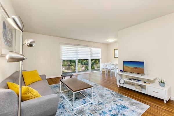Living Room at Pasadena Corporate Housing
