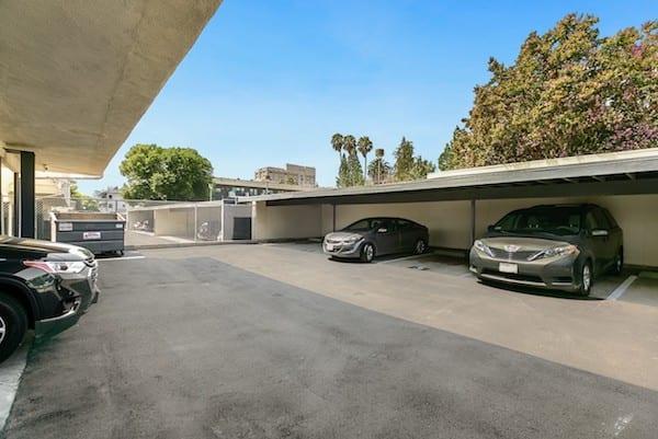 Parking at Pasadena Corporate Housing